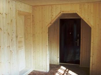 вагонка фото внутри дома