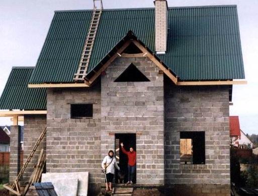 Как сделать дом из керамзитобетонных блоков своими руками