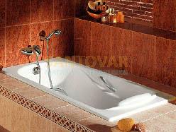 чугунная ванная Roca Halti весит 92 кг