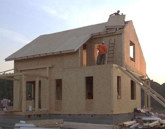 Дом из сип панелей дачный вариант дом