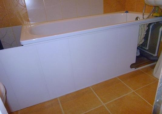 Экран под ванну фото своими руками