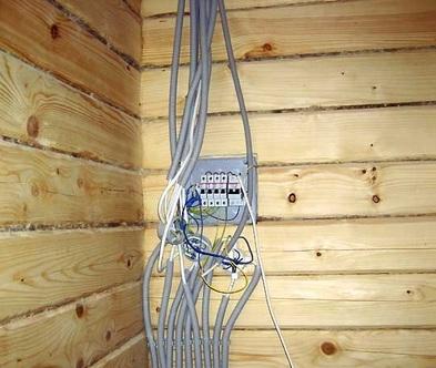 ввод в дом электрических сетей установка узо и распределительного щита