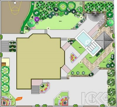 Галерея работ Юкка-дизайн, Проектирование, План приусадебного участка 1. План приусадебного участка 1.