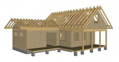 Схема постройки каркасного дома.