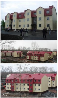 Итог строительство 3-х этажных каркасных жилых домов из сэндвич-панелей Киселёвск Кемеровская обл