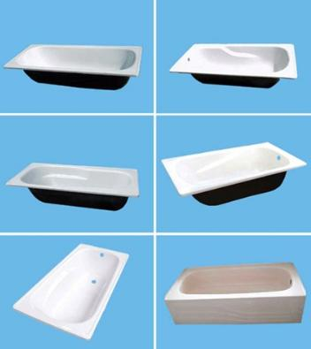 Ванны прямоугольной формы из разных материалов