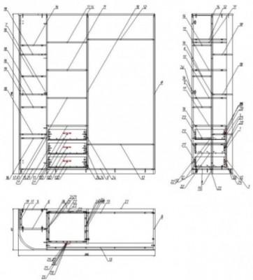 Масштабированное изображение шкафа-купе.  Как сделать чертеж в масштабе.