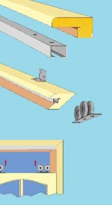 Как собрать раздвижные двери разных типов?