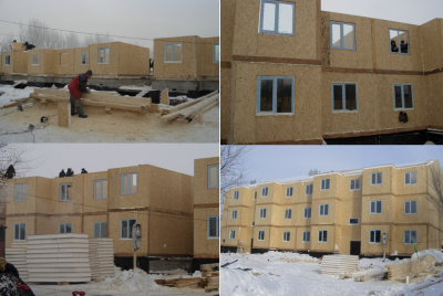 Строительство 3-х этажных каркасных жилых домов из сэндвич-панелей Киселёвск Кемеровская обл_01